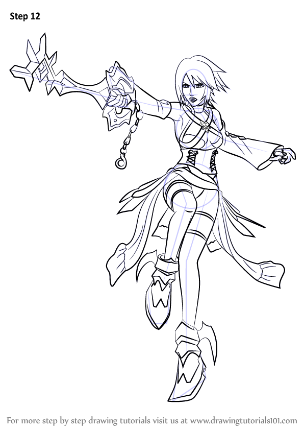 Learn How To Draw Aqua From Kingdom Hearts Kingdom Hearts Step By