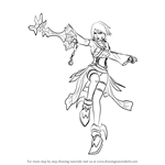 How to Draw Aqua from Kingdom Hearts