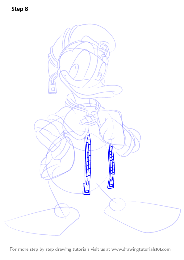 step by step how to draw donald duck from kingdom hearts Draw the to How Lakersemble how to draw the los angeles lakers logo