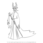 How to Draw Maleficent from Kingdom Hearts