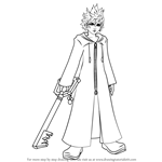 How to Draw Roxas from Kingdom Hearts