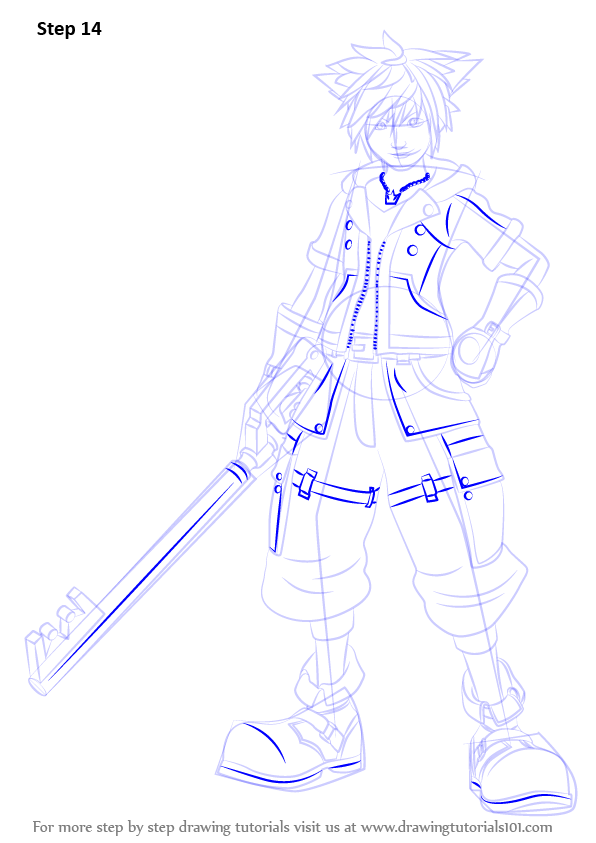 Learn How To Draw Sora From Kingdom Hearts Kingdom Hearts Step By