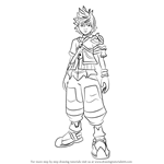 How to Draw Ventus from Kingdom Hearts