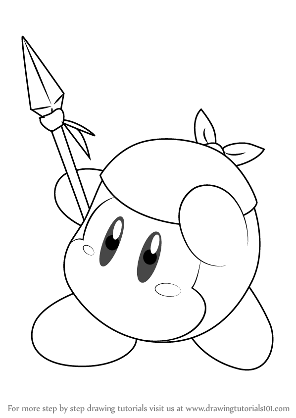 Learn How To Draw Bandana Waddle Dee From Kirby Kirby Step By Step