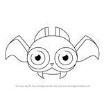 How to Draw Buzzybat from Kirby