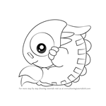 How to Draw Chameleo Arm from Kirby