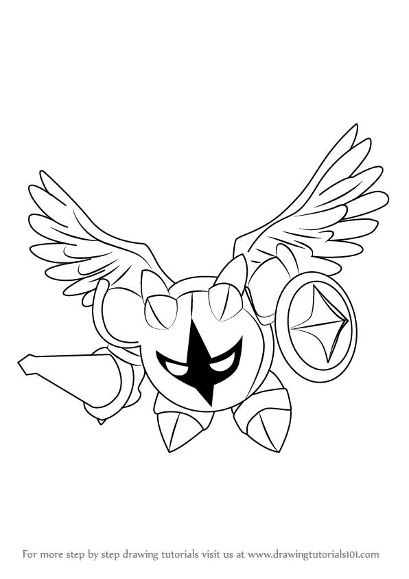 how to draw Galacta Knight from Kirby step 0