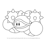 How to Draw Iron Mam from Kirby