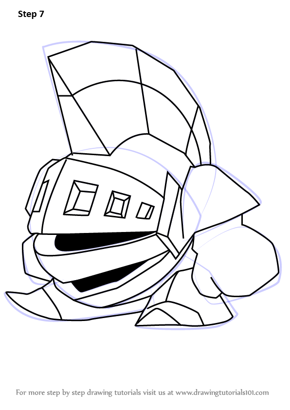 Learn How To Draw Kibble Blade From Kirby Kirby Step By