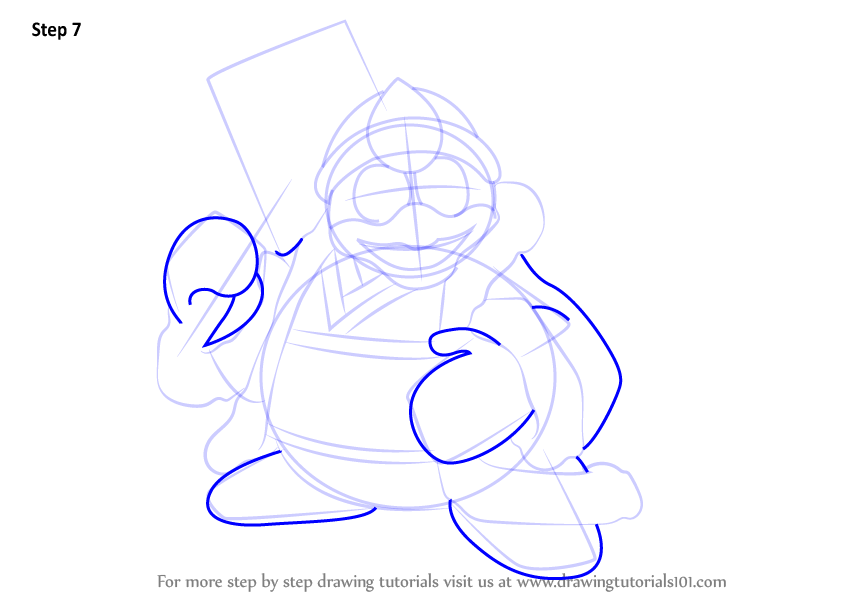 Step by step how to draw king dedede from kirby for Free online drawing lessons step by step