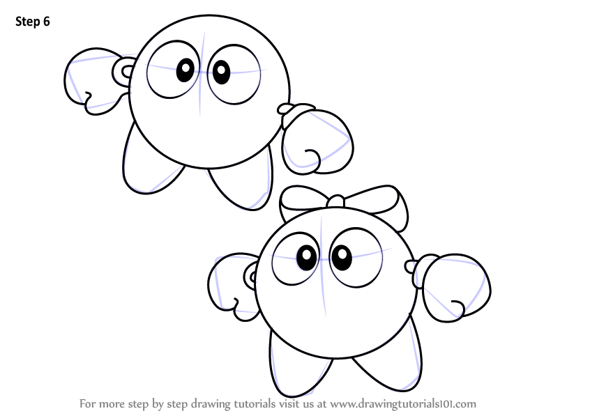 Learn How To Draw Lololo And Lalala From Kirby Kirby