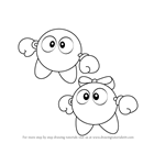 How to Draw Lololo and Lalala from Kirby