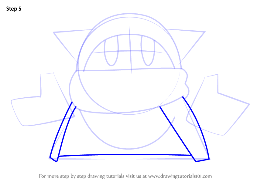 Step By Step How To Draw Magolor From Kirby