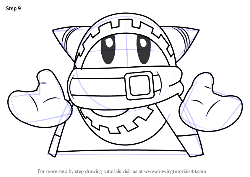 Step by Step How to Draw Magolor
