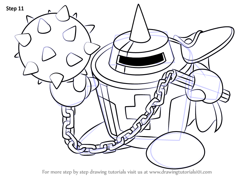 Learn How To Draw Masher From Kirby Kirby Step By Step