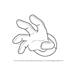 How to Draw Master Hand from Kirby