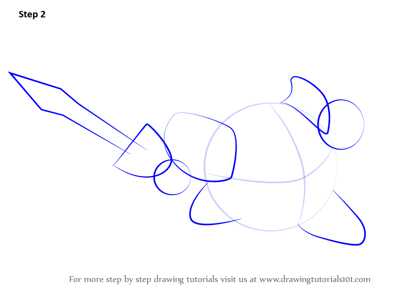 how to draw meta knight easy