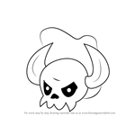 How to Draw Skullseer from Kirby