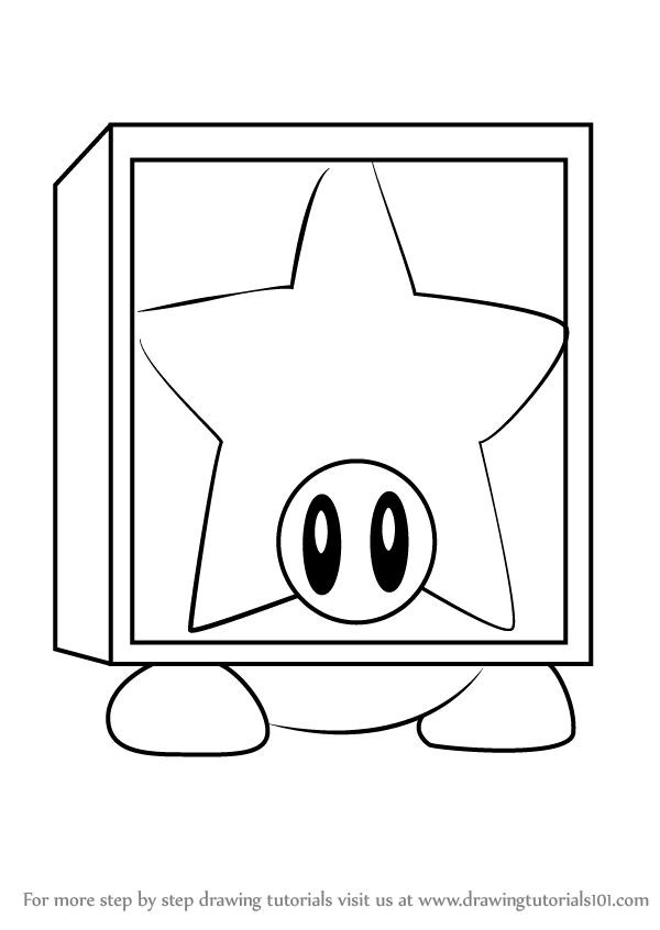 Learn How To Draw Star Block Waddle Dee From Kirby Kirby