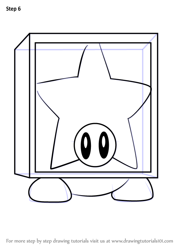 Learn How To Draw Star Block Waddle Dee From Kirby Kirby Step By Step Drawing Tutorials