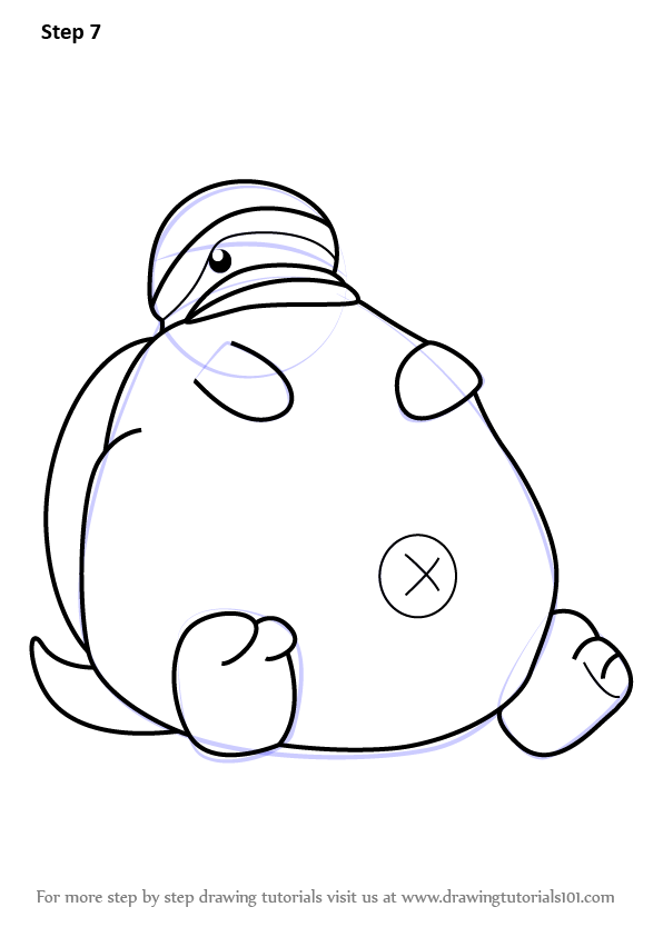 Learn How To Draw Tortletummy From Kirby Kirby Step By