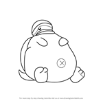 How to Draw Tortletummy from Kirby