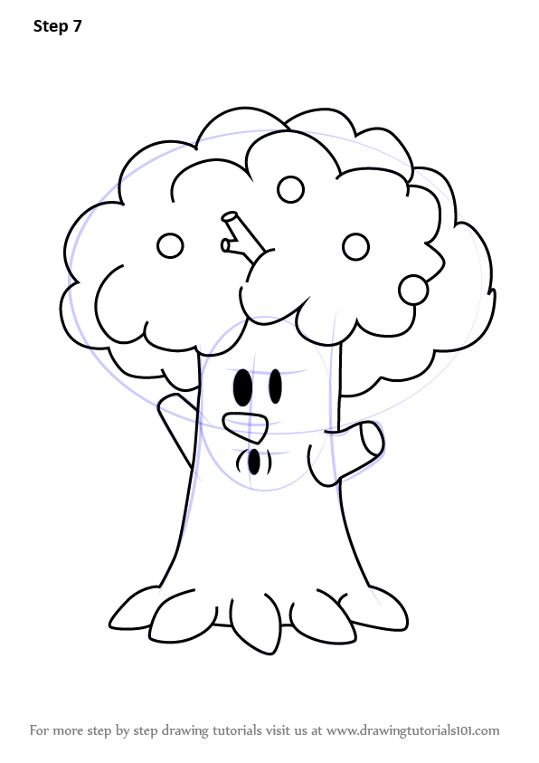 Learn How to Draw Whispy Woods from Kirby Kirby Step by