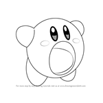 How to Draw Yellow Kirby from Kirby