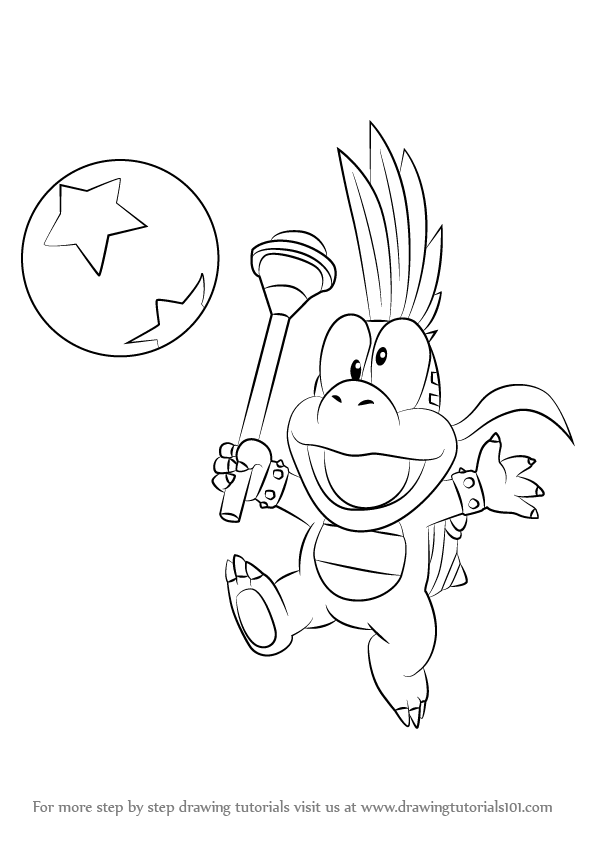 Super Mario Coloring Pages Iggy