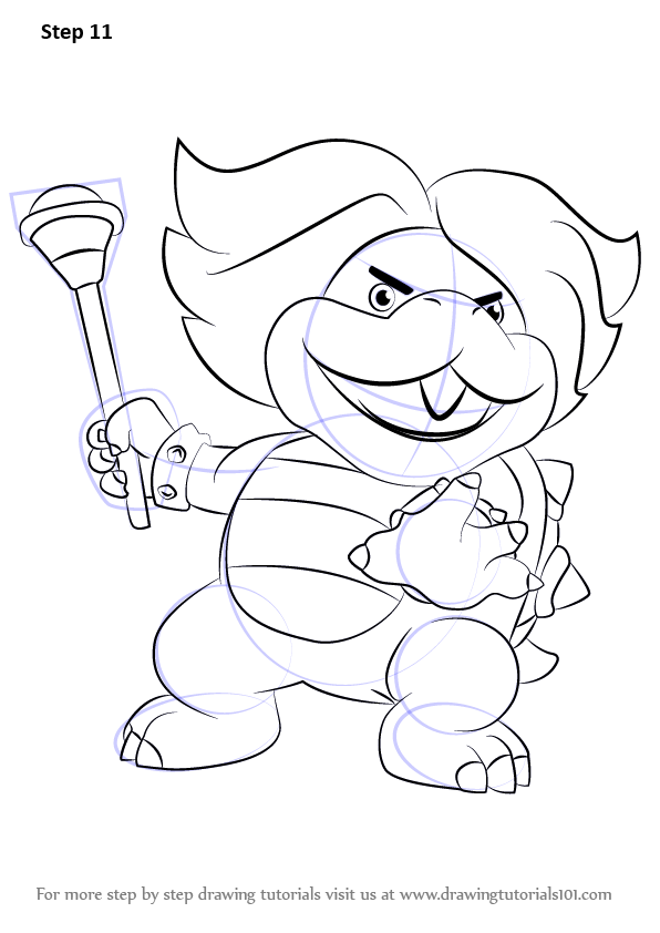 Learn How To Draw Ludwig Von Koopa From Koopalings