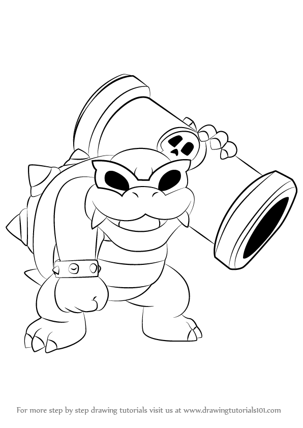 Step By Step How To Draw Roy Koopa From Koopalings