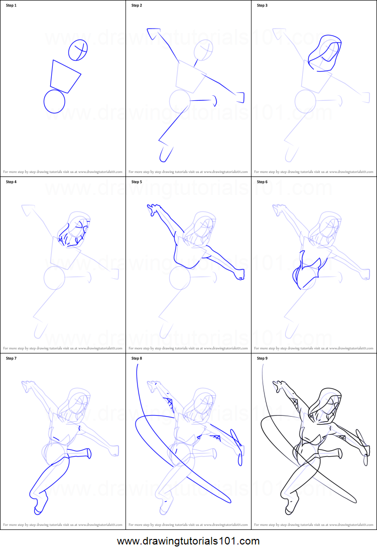 How To Draw Spider Gwen From Marvel Contest Of Champions