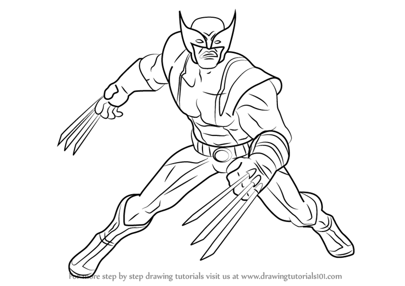 how to draw wolverine from marvel contest of champions