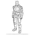 How to Draw Kaidan Alenko from Mass Effect
