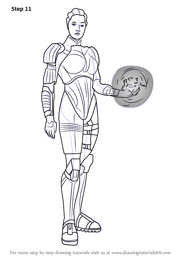 Learn How To Draw Liara T Soni From Mass Effect Mass