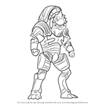 How to Draw Urdnot Wrex from Mass Effect