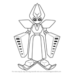 How to Draw Auroraqueen from Medabots