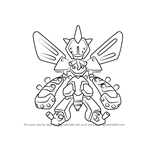 How to Draw Belzelga from Medabots