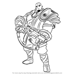 How to Draw Buck from Paladins