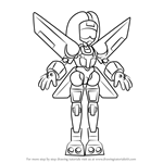 How to Draw Femjet from Medabots