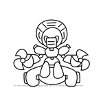 How to Draw Gofan from Medabots