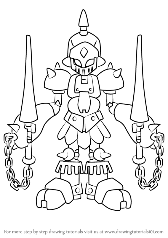 Learn How To Draw Gun King From Medabots Medabots Step By Step
