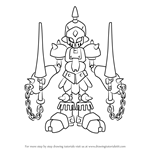 How to Draw Gun-King from Medabots