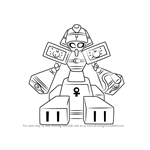 How to Draw King Pharaoh from Medabots