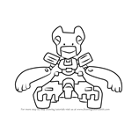 How to Draw Kono-Tractor from Medabots