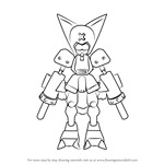 How to Draw Krosserdog from Medabots