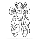 How to Draw Landmotor from Medabots