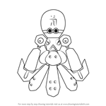 How to Draw Octoclam from Medabots