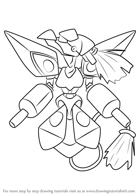 Learn How to Draw Phoenix from Medabots (Medabots) Step by Step