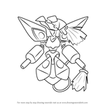 How to Draw Phoenix from Medabots